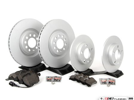 ES#2681160 - 8L0615301KT4 - Front & Rear Brake Service Kit - Featuring Meyle rotors and Vaico semi metallic pads - Assembled By ECS - Audi