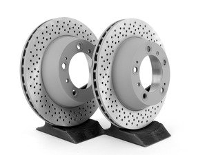 "ES#2535412 - 99635240104KT - Rear Brake Rotors - Pair 11.77"" (299mm) - Rear axle fitment - Both left and right - Sebro - Porsche"