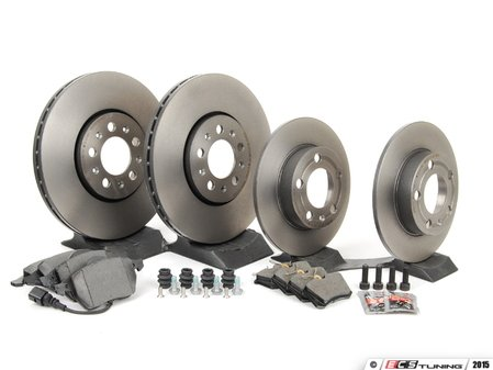 ES#2763161 - 1J0698451KT - Front & Rear Brake Service Kit - Featuring Brembo rotors and Pagid pads - Assembled By ECS - Volkswagen