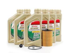 ES#2827052 - MK7TDIKT1 -  Genuine Oil Service Kit - With ECS Magnetic Drain Plug - Includes Genuine oil filter and Genuine 5w-30 oil - Assembled By ECS - Audi Volkswagen