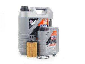 ES#2827053 - MK7TDIKT2 -  Oil Service Kit  - Includes Genuine oil filter and Liqui Moly 5w-30 oil - Assembled By ECS - Audi Volkswagen