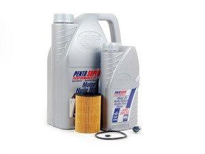 ES#2827075 - MK7TDIKT6 -  Oil Service Kit  - Includes Mann oil filter and Pentosin 5w-30 oil - Assembled By ECS - Audi Volkswagen
