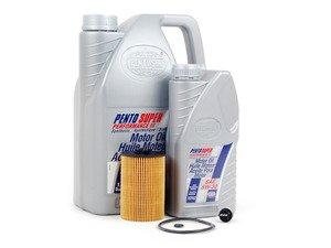 ES#2827076 - MK7TDIKT7 -  Oil Service Kit - With ECS Magnetic Drain Plug - Includes Mann oil filter and Pentosin 5w-30 oil - Assembled By ECS - Audi Volkswagen