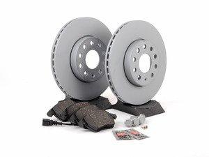 ES#2762650 - 1K0698047kt - Front Brake Service Kit (288x25) - Featuring Zimmermann rotors & Akebono ceramic pads - Assembled By ECS - Volkswagen