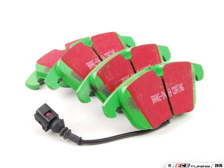 ES#2153388 - DP21997 - Front GreenStuff Performance Brake Pad Set - A race quality pad that can be used at the track and back home again. - EBC - Audi Volkswagen