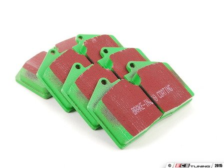 ES#520049 - DP2612 - GreenStuff Performance Brake Pad Set - Mild upgrade pad, great for an afternoon of sporty driving - EBC - Porsche