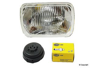 ES#7766 - un6207211 - Hella H4 European Headlight - Priced Each - Replace your US spec headlights with thise much improved European spec H4 bulb headlights. - Hella - Volkswagen