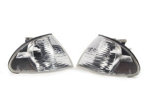 ES#2777175 - 63136902770/69KT - Clear Turn Signal Assembly - Pair - Upgrade your amber marker lights to white indicators - Assembled By ECS - BMW