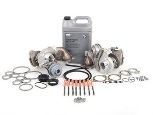 ES#3146930 - 1165764928990KT4 - N54 Twin Turbo Replacement Kit  - Includes new original equipment turbochargers manufactured by Mitsubishi, installation hardware, and coolant. - Assembled By ECS - BMW