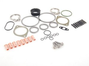 ES#2628679 - 11510392553KT1 - N54 Turbocharger Installation Kit - Front - All hardware required for a successful install utilizing high quality aftermarket components - Assembled By ECS - BMW