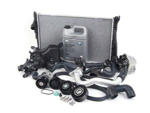ES#2739949 - 11537558522KT2 - ECS Cooling System Refresh Kit - Level 3 - Everything you need to totally service your cooling system, including a radiator and belt service. Now includes ECS Billet Aluminum Radiator Drain Plug! - Assembled By ECS - BMW