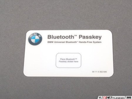 ES#200677 - 84110302646 - PASS KEY CARD - Genuine BMW -