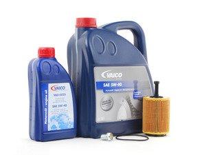 ES#2784966 - VR624VOIL3KT - Oil Service Kit  - Includes Mann oil filter and Vaico 5w-40 oil - Assembled By ECS - Audi Volkswagen