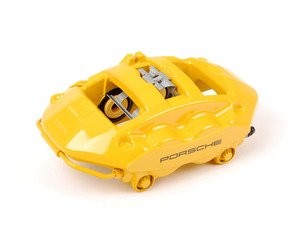 ES#1499402 - 99735242598 - Rear Brake Caliper - Yellow - Left side fitment - Genuine Porsche - Porsche