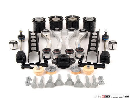 ES#2600710 - 33322283548KT1 - Rear Suspension Refresh Kit - Level 2 - M3 spec rear control arms and subframe bushings, rear shock mounts, HD end links, sway bar bushings and trailing arms with bushings for a complete rebuild - with high quality aftermarket components - Assembled By ECS - BMW