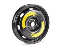 """ES#2539668 - 1K0601027AP03C - 18"""" Spare Wheel - 18""""x3.5"""" ET25 5x112 Rally Black. Does not include the tire - Genuine Volkswagen Audi - Audi"""