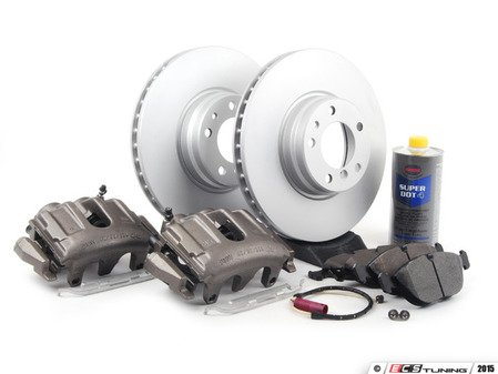 ES#2766097 - 34116757756KT5 - OE Front Big Brake Kit (334x32) - Featuring Meyle rotors and Posi Quiet pads - Assembled By ECS - BMW