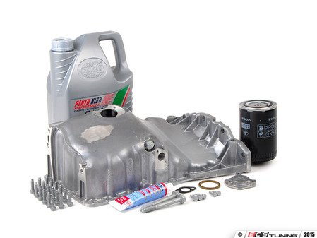 ES#2603027 - 06B103601CAKT2 - Oil Pan Replacement Kit - Everything required to replace your leaking pan, including the oil change - Assembled By ECS - Audi