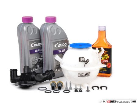 ES#2608169 - 06F121111FKT4 - Cooling System Refresh Kit - Level 2 - Replace your thermostat, temp sensors, and expansion tank after performing a proper coolant system flush! - Assembled By ECS - Audi