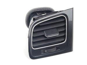 ES#2766674 - 5GM819703ADAR - Air vent - left - Vent found nearest the driver's door in the dashboard. Black/Aluminum/satin black - Genuine Volkswagen Audi - Volkswagen