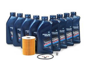 ES#2072574 - M61060OCI1 - OEM Genuine BMW Oil Change Kit - Everything you need for a basic oil service including Genuine BMW M Twin Power Turbo oil - Genuine BMW - BMW