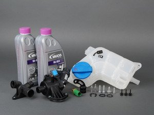 ES#2795704 - 06B121111KT3 - Cooling System Refresh Kit - Level 2 With ECS Billet Aluminum J-Plug - Includes ECS' upgraded J-plug & replace your thermostat, temp sensors, coolant flange, & expansion tank with one kit! - Assembled By ECS - Audi