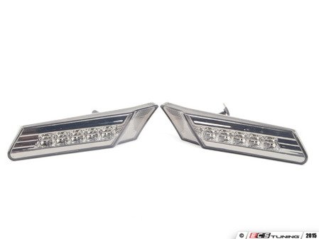 ES#2808390 - D481402PAVS - LED Smoked Side Marker Light set - White LEDs - Simple plug & play installation - Depo - Porsche