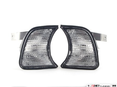 ES#2808204 - 4441501PUEC - Front Turn Signal Set - Clear - Euro-style Clear/white front corner lights - Depo - BMW