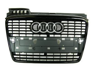 ES#2081142 - 8E0853651JVMZ - Grille Assembly - Black - Give your vehicle a clean and stealthy look - Genuine Volkswagen Audi - Audi