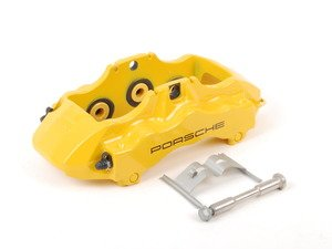ES#1499336 - 99735143192 - Front Brake Caliper - Yellow - Left side fitment - Genuine Porsche - Porsche