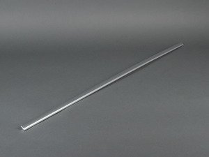 ES#438445 - 8E0853765B - Front Outer Window Trim Strip - Left - Located on top of the outer window slot seal. Matte Aluminum - Genuine Volkswagen Audi - Audi