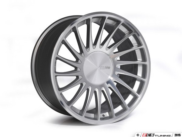"ES#2840811 - 3SDM00531KT1 - 19"" Style 0.04 Wheels - Staggered Set Of Four - 19""x8.5"" ET42 / 19""x10.0"" ET35 CB66.6 5x112 Silver/Cut - 3SDM - Audi"