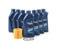 ES#250700 - N54OCI - Genuine BMW Oil Service Kit / Inspection I - Includes seven quarts of BMW synthetic engine oil, Mann oil filter - Assembled By ECS - BMW