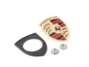 ES#2561707 - 99655921101KT - Full Color Hood Crest Kit - Complete installation kit with early-style crest - Assembled By ECS - Porsche