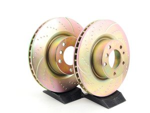 ES#521588 - GD1204 - Front Sport Brake Rotors - Pair (324x30) - Upgrade to a dimpled and slotted rotor for improved braking - EBC - BMW