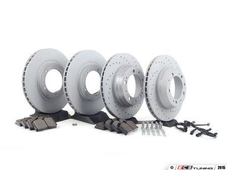 ES#2597895 - 95135104100PERKT - Performance Front & Rear Brake Service Kit - Featuring Zimmerman Z-Coated rotors and Hawk HPS brake pads  - Assembled By ECS - Porsche