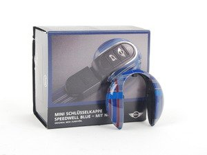 ES#2714968 - 82292353328 - Key Cap - Speedwell Blue - Snaps into place to add style to your MINI key fob - Genuine MINI - MINI