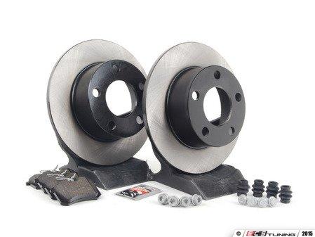 ES#1899339 - 8e0698017 - Rear Brake Service Kit - Includes OP Rotors & Vaico Pads - Assembled By ECS - Volkswagen