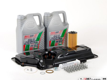 ES#2602394 - 079103602QKT - Oil Pan Replacement Kit - Everything required to replace your leaking pan, including the oil change - Assembled By ECS - Audi