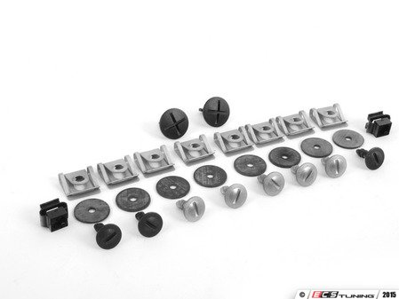 ES#2587686 - 8D0805121KT - Front Belly Pan Installation Hardware Kit - Includes required hardware to secure the front belly pan - Assembled By ECS - Audi