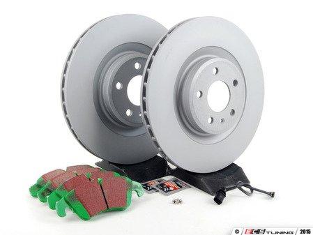 ES#2597357 - 8K0698301MKT - Front Brake Service Kit - Featuring Zimmerman rotors and EBC GreenStuff pads - Assembled By ECS - Audi