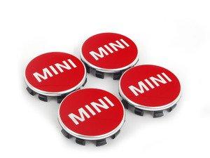 ES#2715085 - 36132354148 - MINI Wheel Center Cap Red - Set Of Four - Chili Red color center caps to add some style - Genuine MINI - MINI