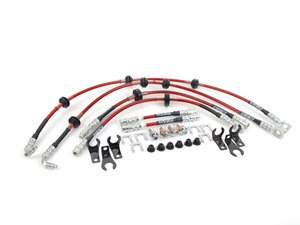 ES#2681193 - 1J0611701L - Exact-Fit Stainless Steel Brake Lines - Kit - This complete DOT brake line kit covers the front, mid and rear brake lines for shorter, more consistent stops - ECS -