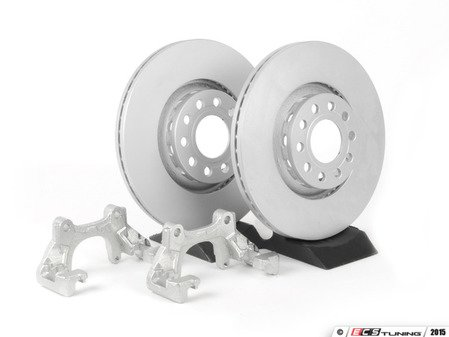 ES#89 - B5A8BBKNPAPLNKT -  Front Big Brake Kit - stage 1 - Plain Rotors (312x25) - Upgrade your stopping power with larger diameter rotors - Assembled By ECS - Audi Volkswagen