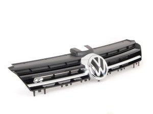 "ES#2806488 - 5G0853651EADQ - Golf R grille - With Matte Aluminum Strip - Satin black bars with matte aluminum strip and ""VW"" and ""R"" badges - Genuine Volkswagen Audi - Volkswagen"
