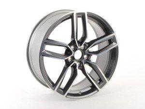 "ES#2725940 - 8V0601025AB - 19"" double 5-Spoke Wheel - Priced Each - 19""x8"" ET49 5x112 Black/Silver face - Genuine Volkswagen Audi - Audi"