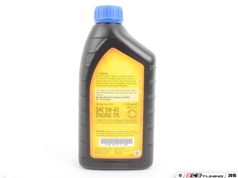 Genuine mercedes benz 0009898301usb6 5w 40 full for 2010 mercedes benz e350 motor oil
