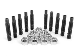 ES#2807084 - PRACH5KT4 - Wheel Stud Conversion Kit - Half set  - Make wheel changes faster and easier, enough to convert one axle - ECS - BMW