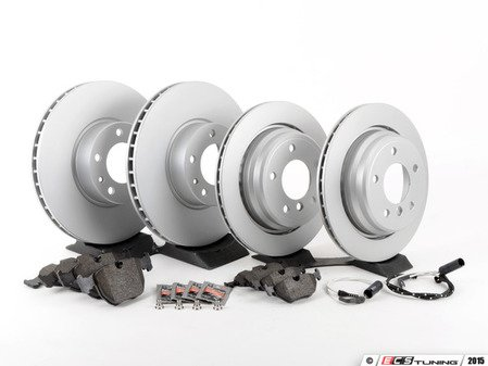 ES#2586841 - 34116767059KT1 - Front & Rear Brake Service Kit - Featuring Meyle Brake Rotors and Pagid Pads - Assembled By ECS - BMW