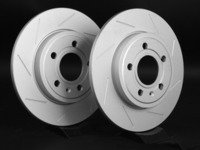 ES#2189764 - 8E0601MSLGMTLRA -  Rear Slotted Brake Rotors - Pair (288x12) - Featuring GEOMET protective coating - ECS - Audi